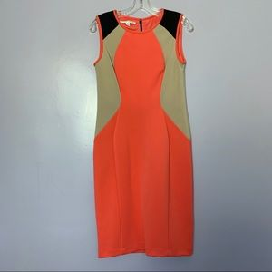Maggy London Sleeveless Colorblock Dress NWOT